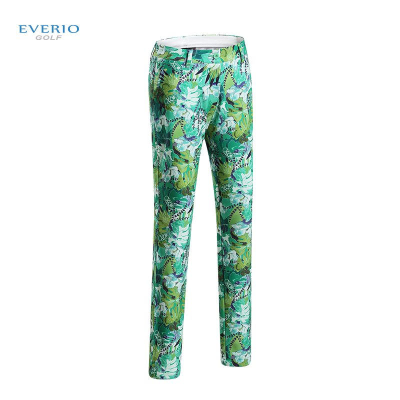 New Print Women golf pants lady long trousers with fleece autumn sports pants for Korean style slim elastic pants XS~XXL winter ethnic style elastic waist tribal print girl s pants