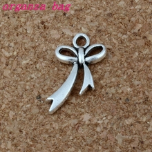 Bow-Knot charm Pendant 200Pcs/lot Hot sell Antique Silver alloy Jewelry DIY 11* 20mm 0.6g A-202
