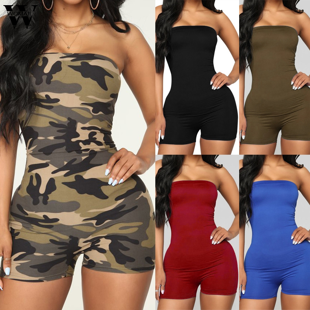 Womail Bodysuit Women Sexy Sleeveless Summer Slim Fit Playsuit Short Jumpsuit Romper Clubwear Holiday Trousers Fashion 2019 M529