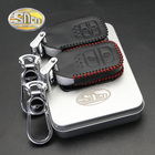 SNCN 100% Genuine Leather Car Styling Auto Key Chain Bags Cover Case For Honda CRV HRV BRV WRV Jazz Fit City Grace