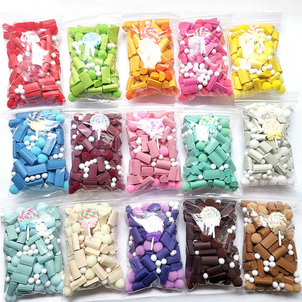 New Multicolor Sponge Slime Bead Chunks Addition Slime Supplies Accessories Filler Charms for Slime Foam Clay Mud for Kid Gift E