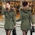 2016 recién llegado de bienes Trench Sobretudo Feminino Casacos Femininos abrigo largo líder de algodón acolchado de invierno en ropa