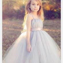 Новинка 2017 тюлевые платья с цветами для девочек бальное платье