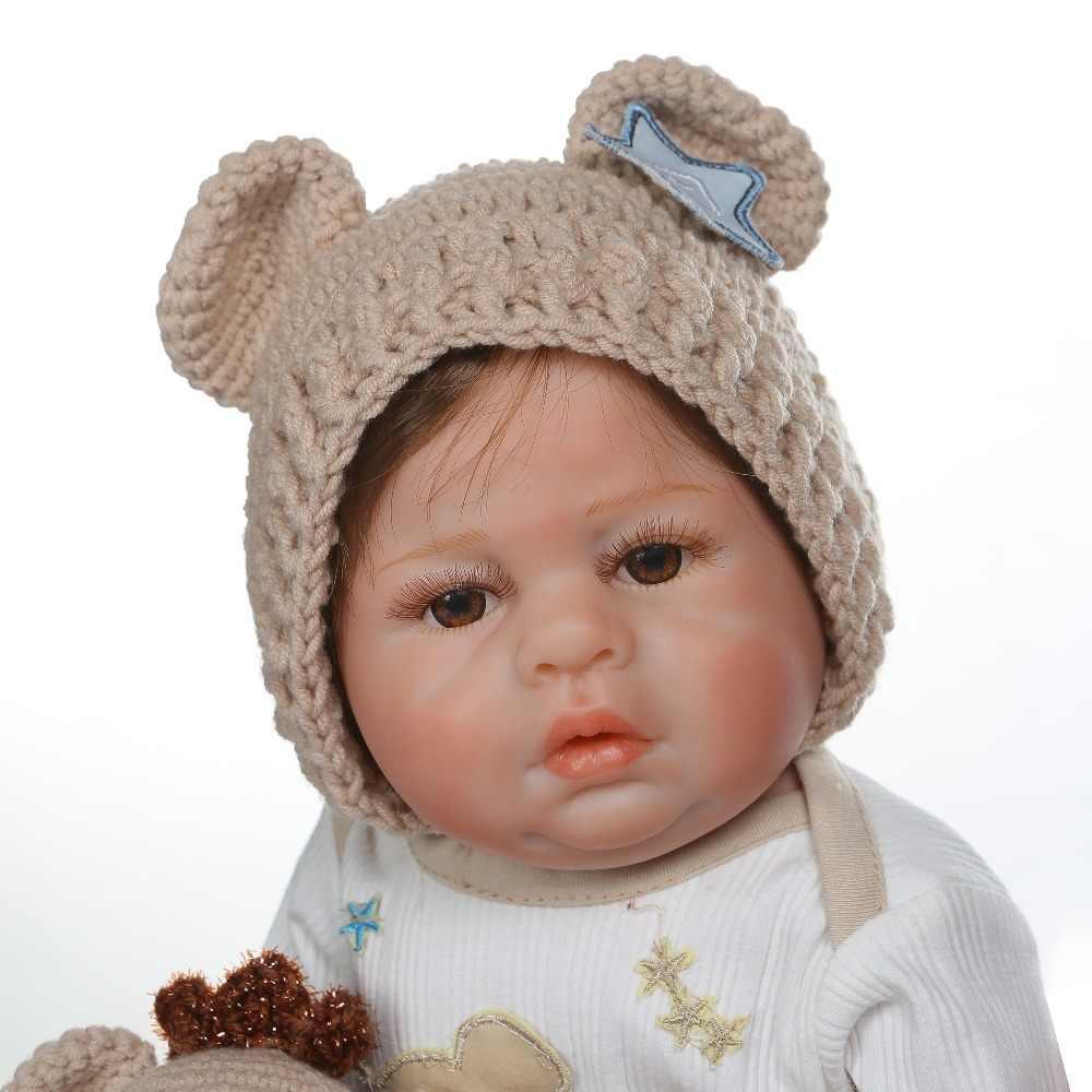 NPK 48 см bebe Кукла реборн Новорожденный ребенок близнец ребенок мальчик и девочка ручная детальная картина мизинец вид всего тела силикон