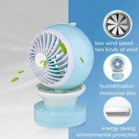 Outdoor Camping Hiking Travel Tool Mini Portable Air Conditioning Fan USB Mist Spray Home Cooling Humidifier