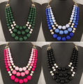 New SPX5252 Fashion Amazing Crystal Bib Bead collar Statement Tassel Necklaces accessories big chunky Beads necklaces