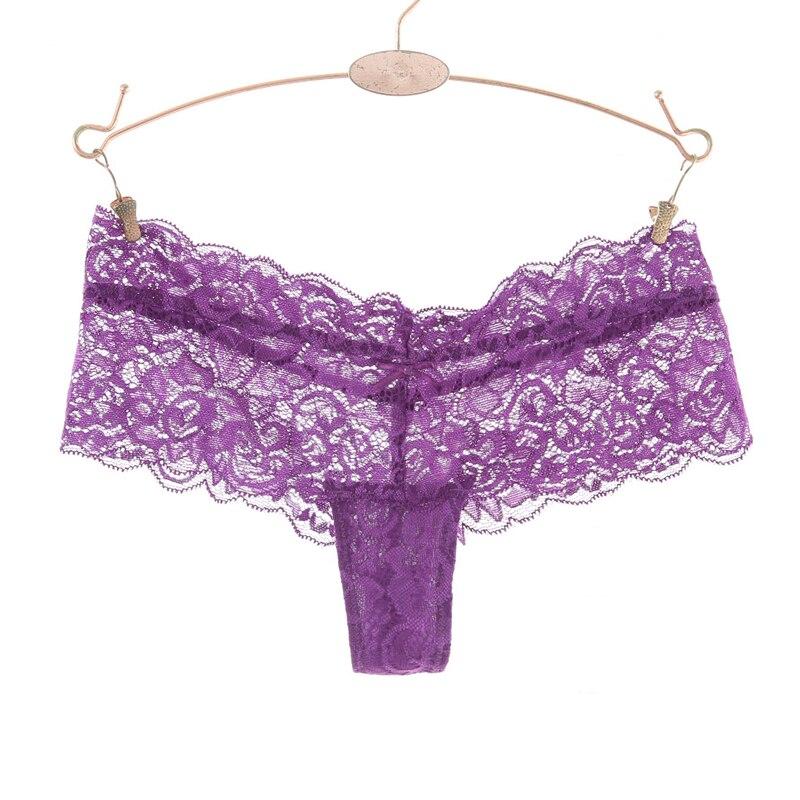 S-XXL Full Lace Women G String Low Waist   Panties   Hollow Briefs Plus Size Underwear Thongs