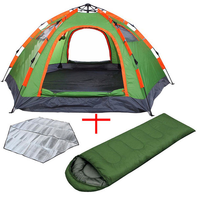 Wnnideo Camping Set Family Tent 6 Person Pop Up Large Dome Tent Outdoor Survival Equipment for Novice Easy Travel Fishing Hiking