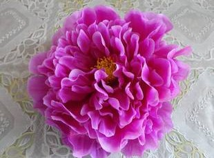 76 шт. искусственная ткань 12 слоев 16 см Открытый Пион цветок голова для Diy Ювелирные изделия Свадьба Рождество U выбрать цвет - Цвет: purple