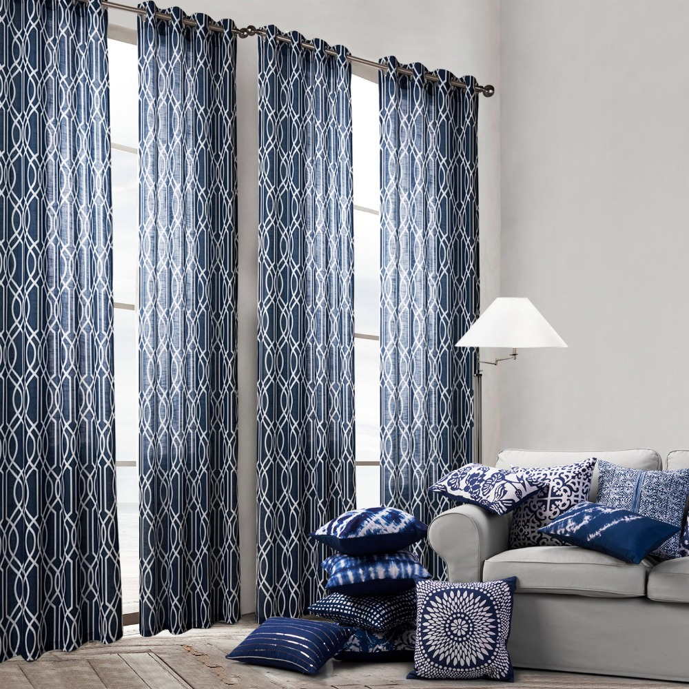 Living Room Curtains Blue - Blue bedroom curtains