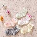 Niñas Calcetines Nuevo 3 par/lote 2016 Párrafo Primavera Y Otoño Calcetines de Los Niños, bebé Pequeño Arco Modelos Femeninos A-cll-017-3