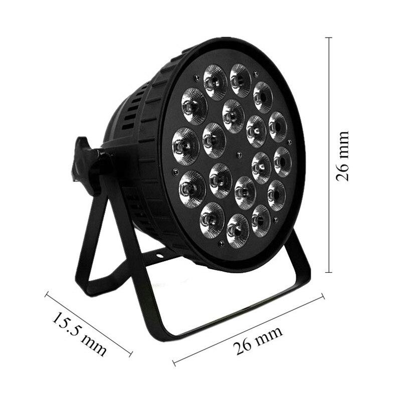Aluminum Alloy LED 18x12W RGBW Lighting 4in1 LED Par Lights DMX512 Disco Lights Professional Stage DJ Equipment