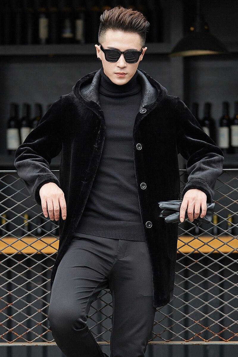 Женское пальто из овечьей шерсти, новинка 2019, зимнее пальто большого размера с воротником из лисьего меха, повседневное пальто средней длин... - 5