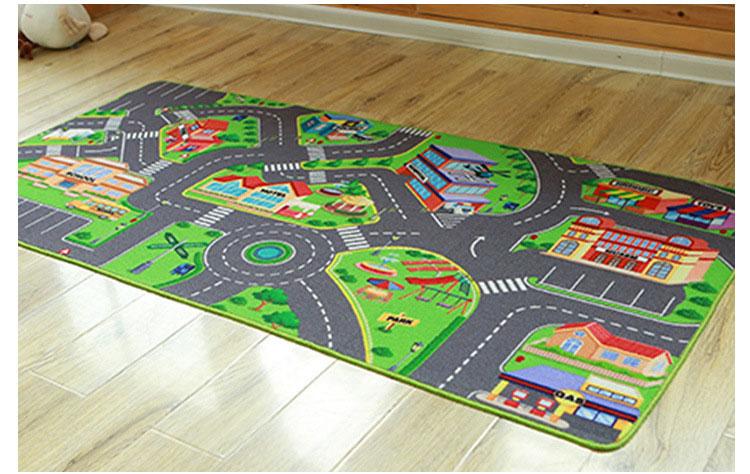 ФОТО Super Soft Racing Circuit Urban Road Traffic Baby Play Mats Crawling Rug Carpet Educational Toys For Kids Boys Play PS41-1