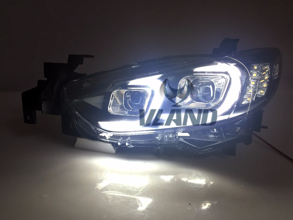 VLAND manufacturer for Car head lamp for Atenza LED Headlight 2014-2016 for Atenza Head light with H7 Xenon lamp and Day light vland 2pcs car light led headlight for jetta headlight 2011 2012 2013 2014 demon eyes head lamp