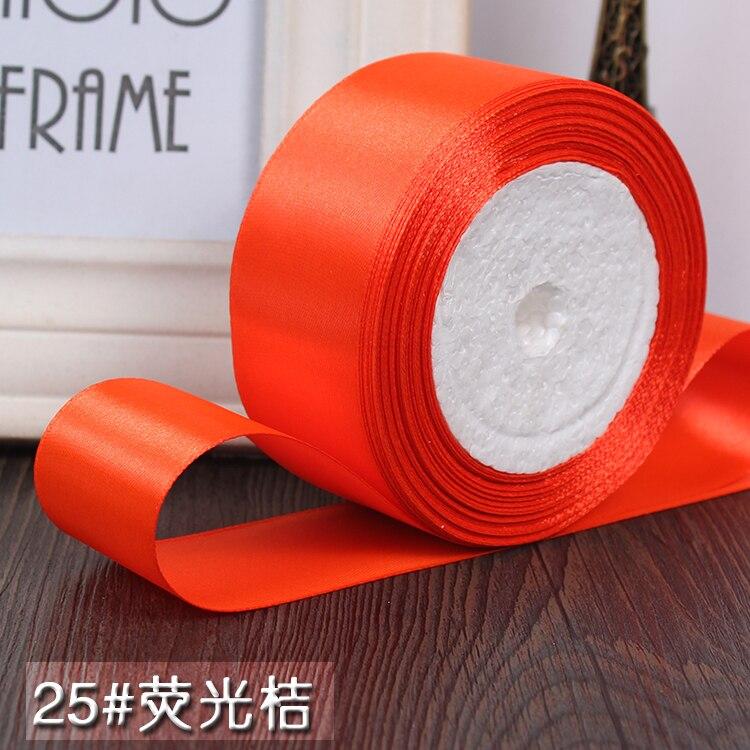 25 ярдов/рулон 6 мм, 10 мм, 15 мм, 20 мм, 25 мм, 40 мм, 50 мм, шелковые атласные ленты для рукоделия, швейная лента ручной работы, материалы для рукоделия, подарочная упаковка