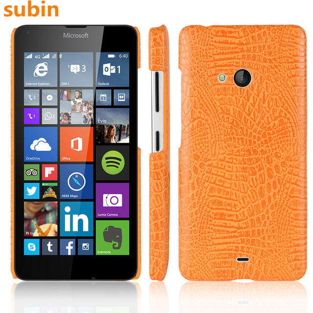 buy online a6a07 f75cb US $3.39 |For Nokia 540 N540 Case Luxury Crocodile Skin Protective Back  Cover For Microsoft Lumia 540 Dual SIM Phone Bag Coques-in Half-wrapped  Case ...