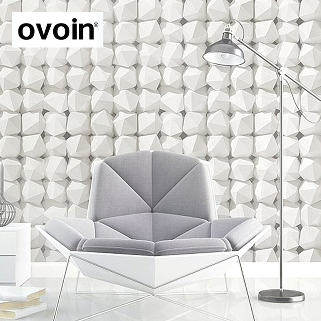Textured 3D Effect Pattern Brick Wallpaper Wall Coverings Roll Geometric Modern Design For Living Room Bedroom