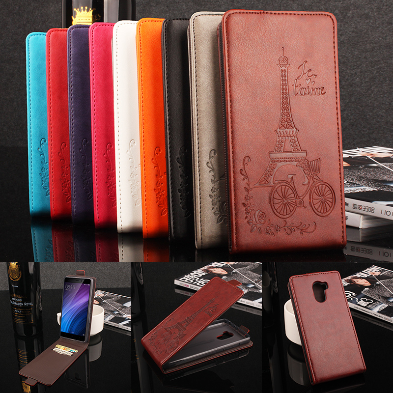Xiaomi Redmi 4 Flip Case Moda Colorido Flip Leather Cover Case para Xiaomi Redmi 4 Magnetic Vertical Back Cover Phone Case