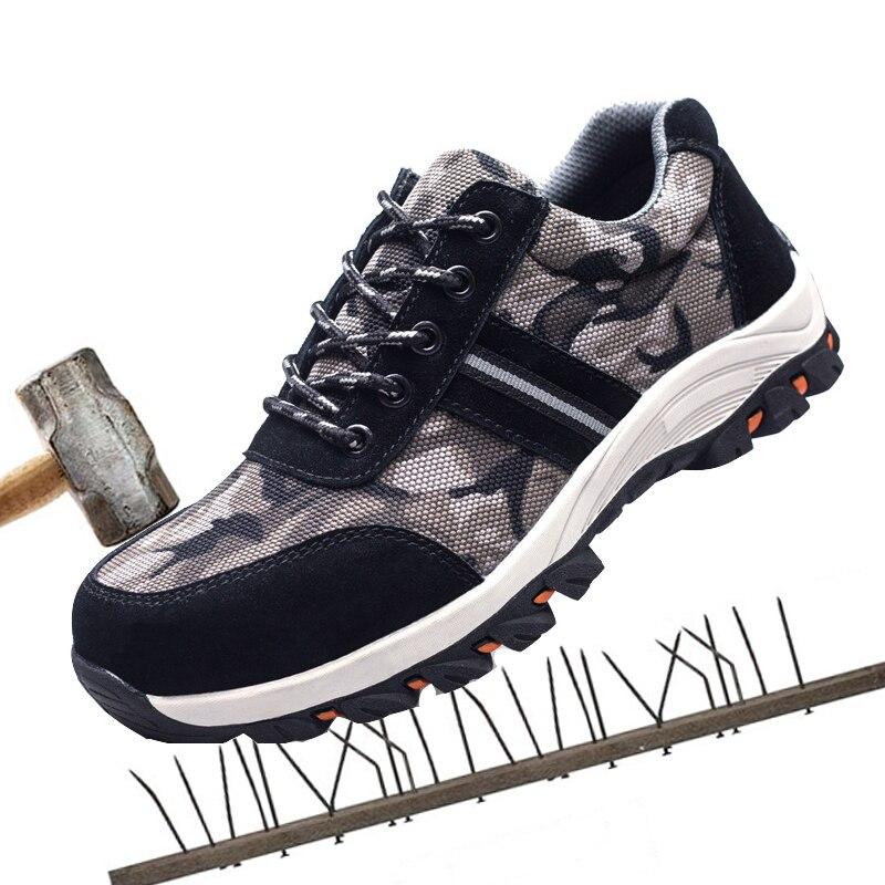 Anti Bottes Acier Protection Respirant Chaussures De crevaison Travail Orteil écrasement Sécurité Hommes Anti 766RZq8wnx