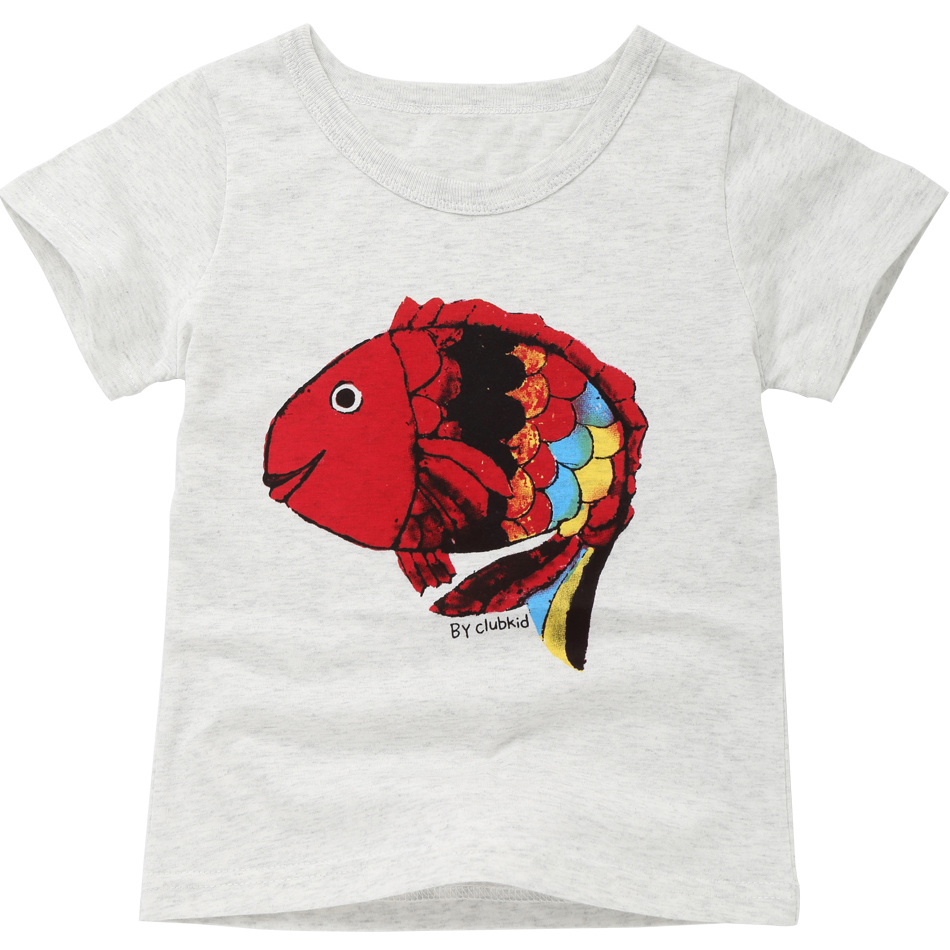 Girls T Shirts Cartoon Kids Clothes Summer 2018 Boys T Shirt Spring Tops Children T-shirts Short Sleeve Toddler Tshirts MF8533