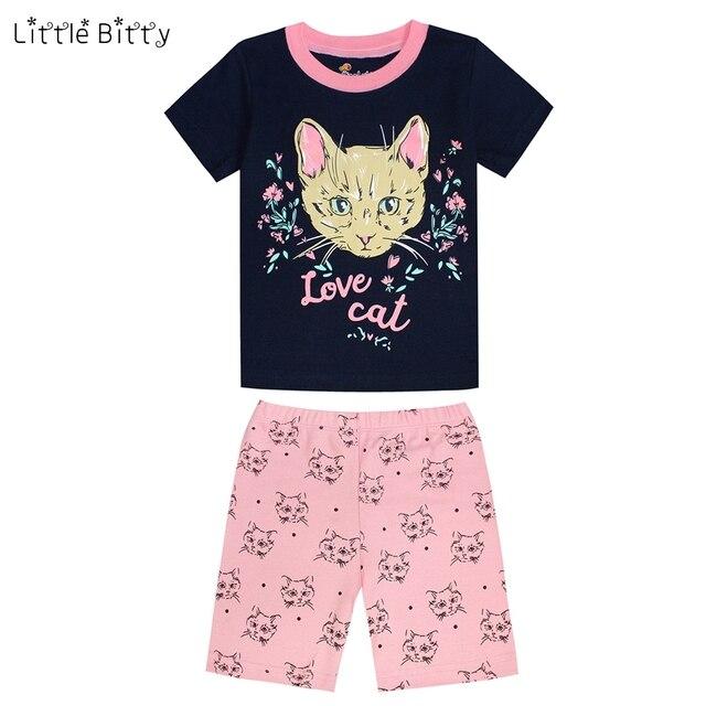 9270f9613669 Summer Girls Boy Sleepwear Short Sleeve Kids Home Wear Baby Pajama ...