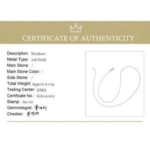 Image 5 - DAIMI Echt 18 K Wit Gouden Ketting Ketting Hanger 18 inch au750 Sieraden Ketting Vrouwen Fijne Gift Groothandel