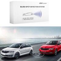 Car Blind Spot Detection LED Indicator 24GHz Millimeter Vehicle Wave Radar Lane Change Assistant Door Open Warning Factory Sales