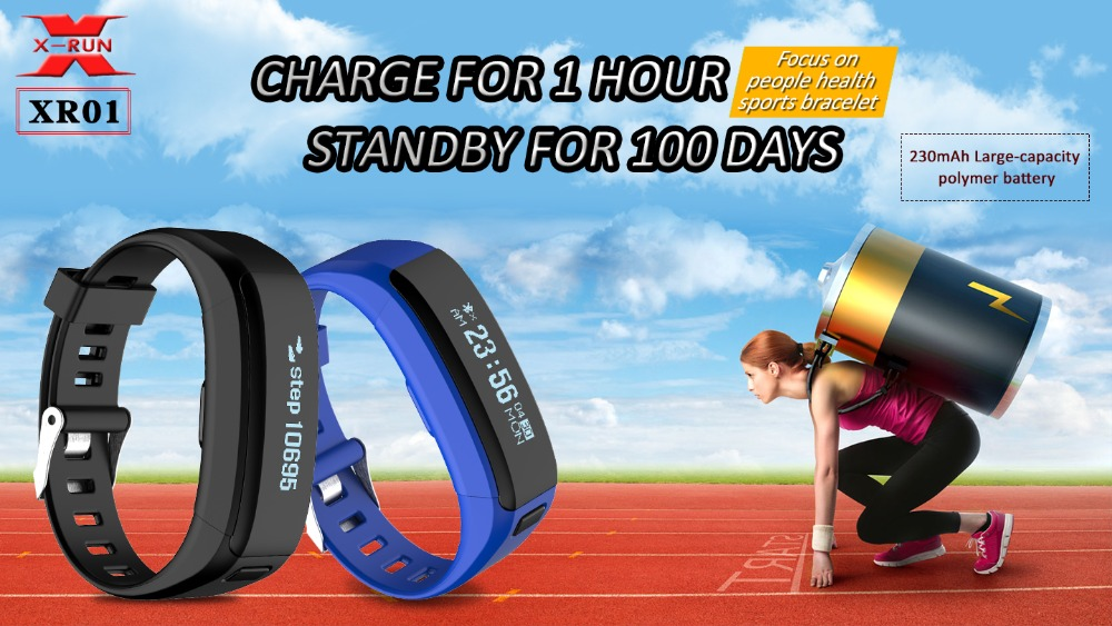 XR01 Smart Bracelet Wristband Fitness Tracker Android Bracelet Smartband Heart rate Monitor PK CK11S A09
