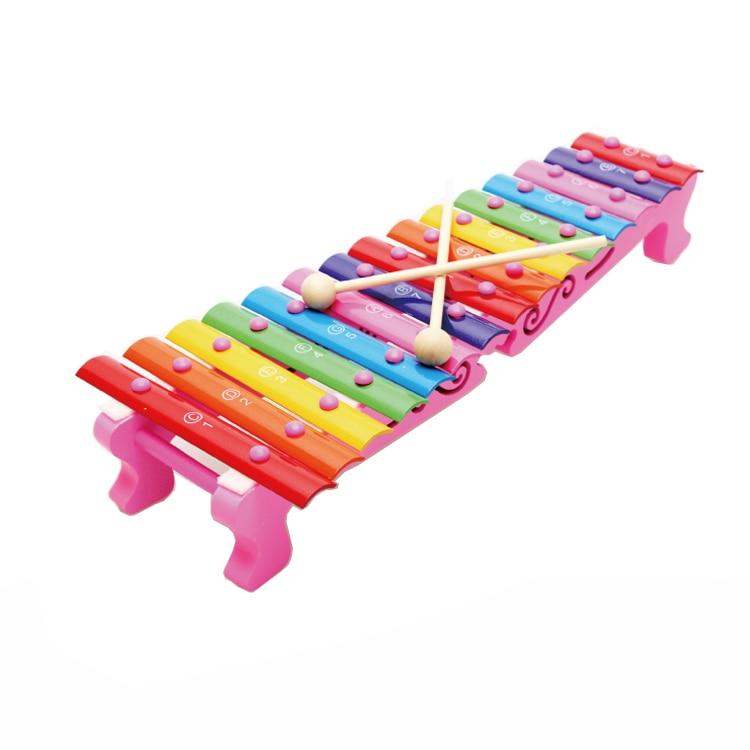 KIDS Wood hand knocking piano aluminum sheet Classic Xylophone Music font b toy b font Musical