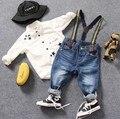 Sólo los pantalones vaqueros 1 unid 2-8Y nuevos 2017 niños del otoño del resorte de mezclilla total 1 unid niños jeans niños denim pant niños chicos liga traje
