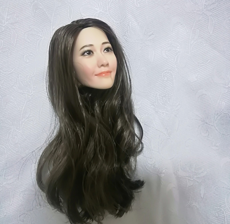 Image 5 - 1/6 Scale Korean Star Lim Yoona A Head Sculpt Female Head Sculpt Model Long Hair For 12 inch DIY PH UD JIAOU Doll Action FiguresAction & Toy Figures   -