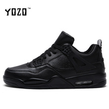 YOZO Men Shoes Fashion Lace Up Breathable Air Cushion Leisure Shoes Unisex Lovers Brand Shoes Flat Casual Shoes 2017