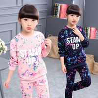 XYFS XY5689 Baby Girl Clothing Set Kids Girl New Lovely Cartoon Kids Clothes Sets Casual Design