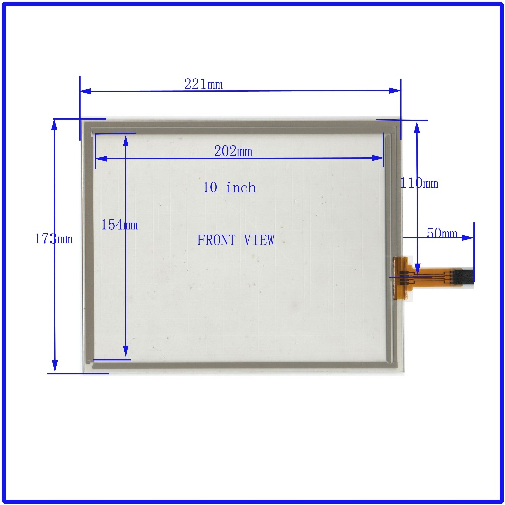 купить ZhiYuSun NEW 10 Inch Touch Screen 221*173mm  4 wire resistive USB touch panel overlay kit   Free Shipping онлайн