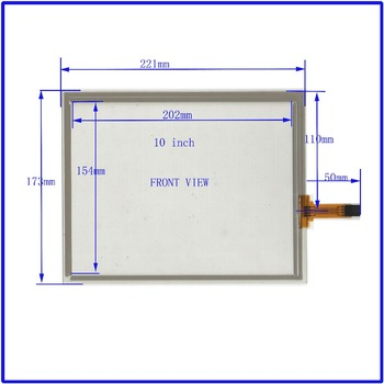 ZhiYuSun NEW 10 Inch Touch Screen 221*173mm  4 wire resistive USB touch panel overlay kit   Free Shipping