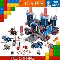 1115pcs 14006 New Knights The Fortrex Model Building Blocks Children Toys Bricks Hot Sale Nexus Compatible