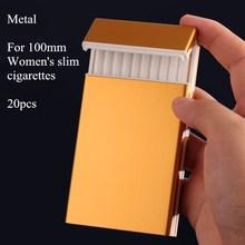 Высококачественный ультратонкий портсигар тонкий металлический портсигар алюминиевый держатель для сигарет женские тонкие сигареты