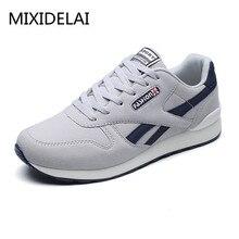 2018 Spring Autumn Men Sneaker Casual Shoes Breathable Mesh Boy Shoes Fashion Lace Up Flats Male Plus Size 39-44 DF1538