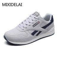 2018 Spring Autumn Men Sneaker Casual Shoes Breathable Mesh Boy Shoes Fashion Lace Up Flats Male Plus Size 39 44 DF1538
