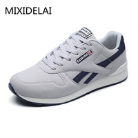 2018 Spring Autumn Men Sneaker Casual Shoes Breathable Mesh Boy Shoes Fashion Lace Up Flats Male