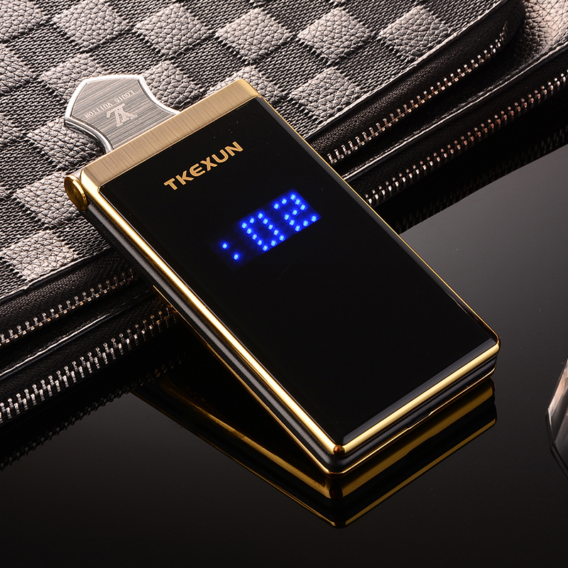 """Image 2 - TKEXUN Flip Touch HandwritingScreen 3.0"""" Display Telephone Speed DialSOS Metal Body Senior Not Smart Mobile Cell Phone-in Cellphones from Cellphones & Telecommunications"""