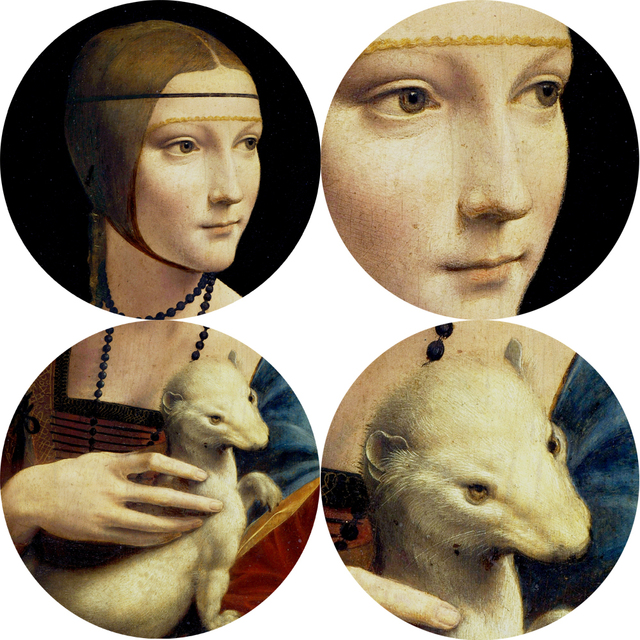 La dama del armiño lienzo reproducciones de las pinturas en la pared Leonardo Da Vinci famoso lienzo arte de la pared decoración del hogar