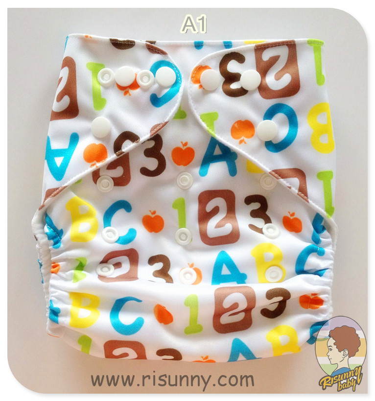 Risunnybaby Famous Europ Brand  Promotional= 1cloth Diaper +1 Bamboo Insert (5layer)  Risunnybaby  Diaper