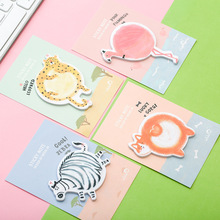 4 pcs/Lot Animal sticky memo pad Diary post it notes Watercolor paper bookmark Stickers journal Office School supplies CM705