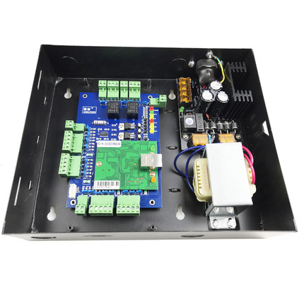Two door access control panel access control board TCP/IP two doors access control system with power supply,sn:L02_set metal power supply box for access control board tcp ip 2 door two ways access control panel with web access
