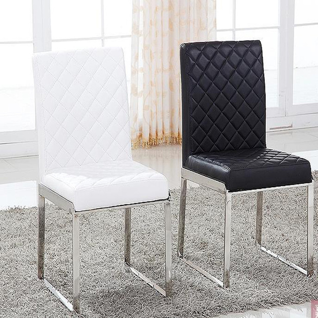 leather living room chairs black couches rooms new fashion dining chair furniture 100 stainless steel red white metal