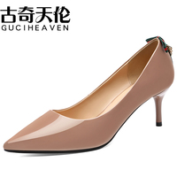 Guciheaven Classics Slip On Pumps Shallow Women Dress Shoes Butterfly knot Thin Spike High Heels 6.5cm Pointed Toe Office Party