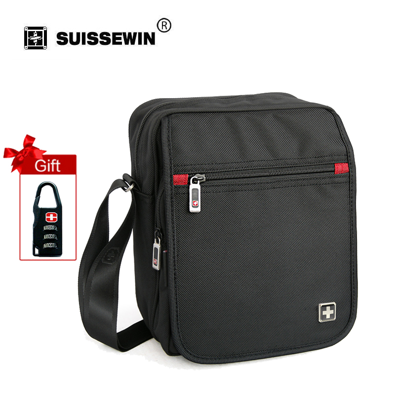 Swisswin Fashion Brand Shoulder Bag Small Black Messenger Daily Phone Quality Waterproof Nylon Flap Zipper Crossbody Bag SW8134A swisswin fashion brand men shoulder bag small black messenger daily phone bag quality waterproof nylon flap zipper crossbody bag