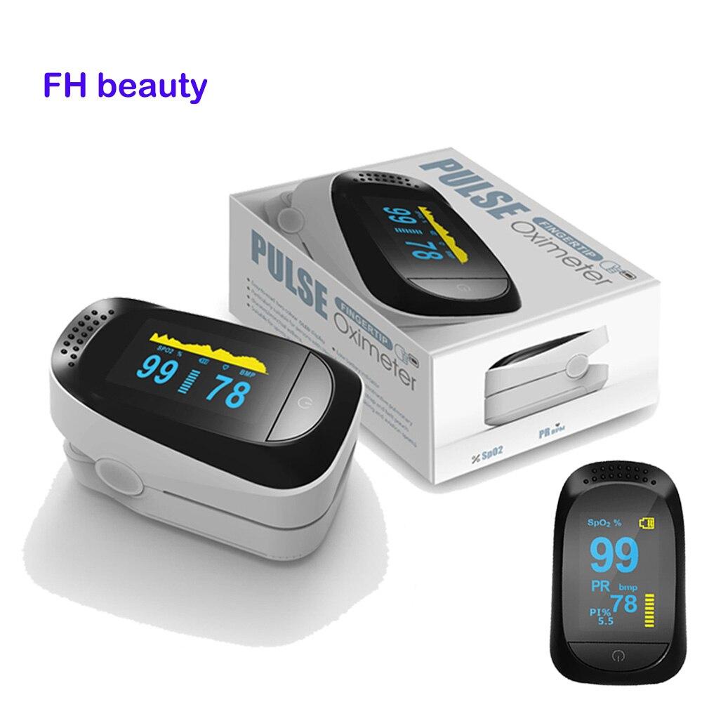 Digital Finger Pulse Oximeter WITH CASE Blood Oxygen Finger SPO2 PR PI Alarm Oximetro de dedo Portable Health Care 8 hour sleep